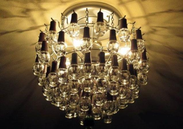 Empty nail varnish chandelier
