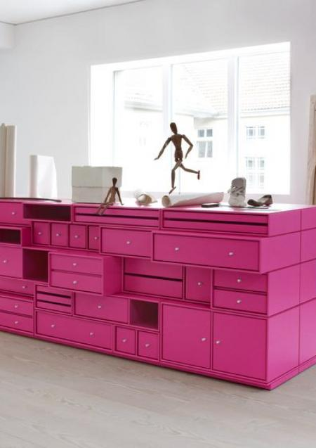 barbie pink upcycled drawers