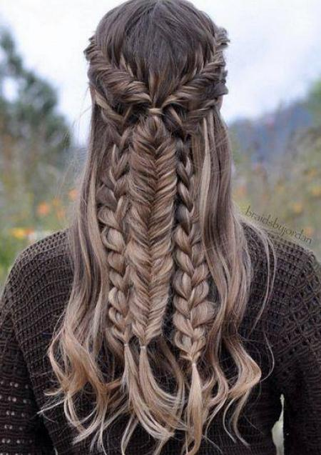 Multi braid for interesting texture.