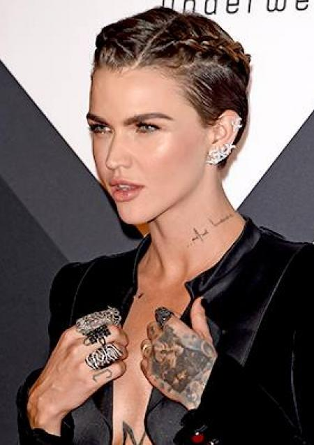 MILAN, ITALY - OCTOBER 25: Ruby Rose attends the MTV EMA\
