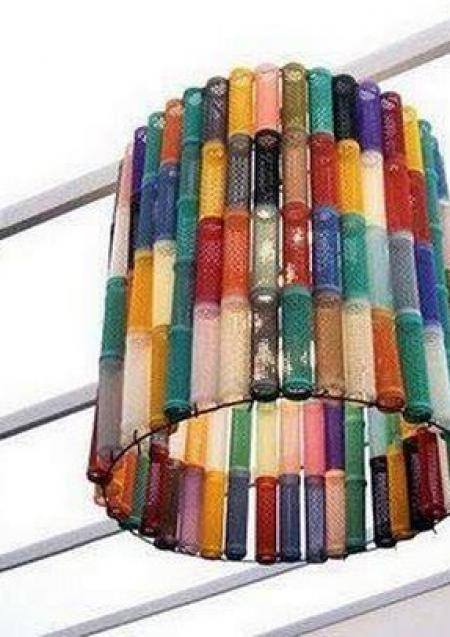 Old rollers lamp shade