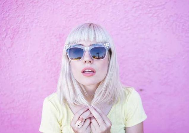 Bright blonde