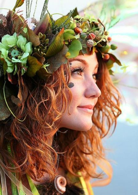 Celtic flower crown