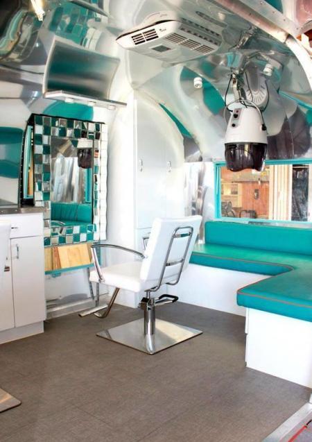 The coolest, retro caravan hair salon